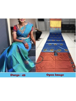 Picture of DURGA45 Designer Satin Gota Digital Print Saree