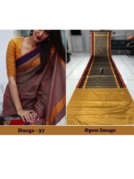 Picture of DURGA37 Designer Satin Gota Digital Print Saree