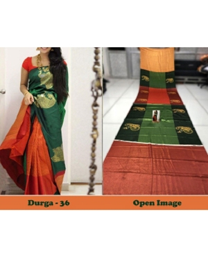 Picture of DURGA36 Designer Satin Gota Digital Print Saree
