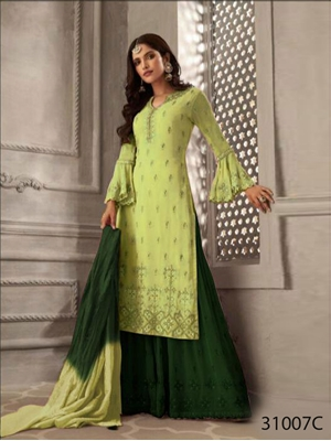Picture of 31007C Petals Plazo Suit Collection