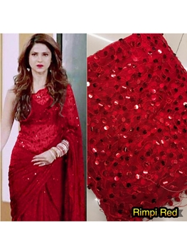 Picture of RimpiRed Jennifer Winget Saree Collection