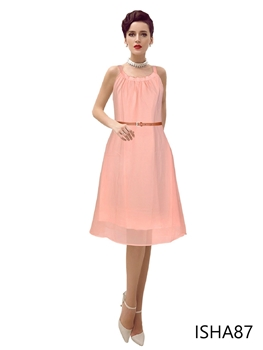 Picture of ISHA87 Exclusive Designer Peach Dress
