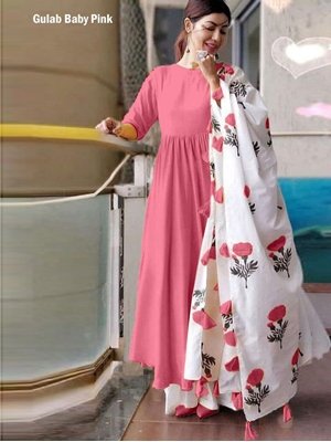 Picture of GulabBabyPink Kurti With Plazo Suit Collection