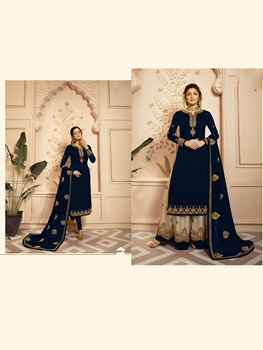 Picture of 4207D Satin Georgette Plazo Suit Collection
