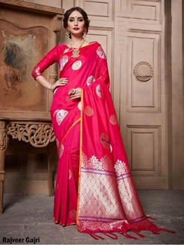 Picture of Rajveer Gajri Cotton Silk Saree Collection