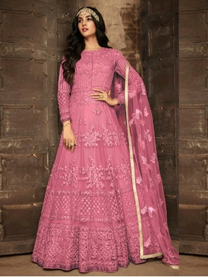 Picture of 7201E Heavy Net Anarkali Suit Collection