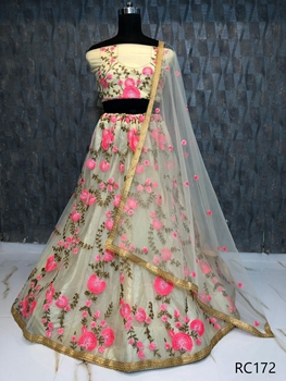 Picture of RC172 Embroidery Net Lehenga Choli Collection