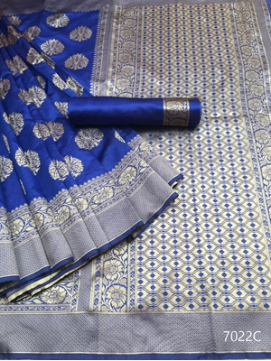 Picture of 7022C Kora Silk Saree Collection