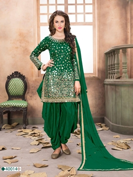 Picture of AANAYA40014 Taffeta Silk Patiala Suit