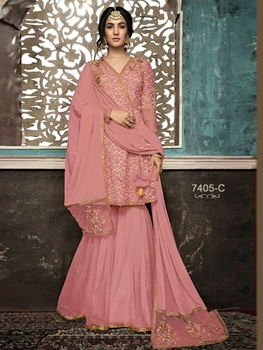 Picture of 7405C Designer Plazo Suit Collection