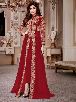 Picture of 8001D Shamita Gold Designer Suit Collection