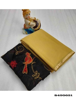 Picture of Georgette Saree with Beautiful Foil Patti