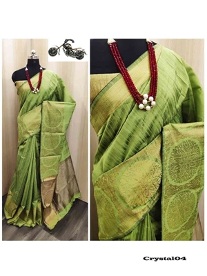 Picture of Crystal Khicha Silk Sarees Collection