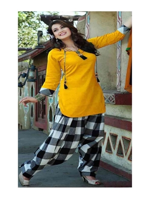 Picture of Check Pure Cotton Dress Collection