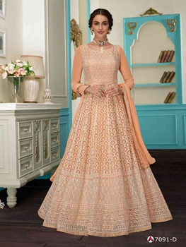 Picture of 7091D Designer Anarkali Suit Collection