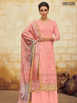 Picture of 9852B Designer Plazo Suit Collection