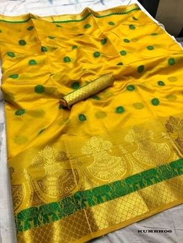 Picture of Kumbh Designer Cotton Silk Sarees