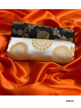 Picture of Satin Silk Saree Collection With Double Blouse
