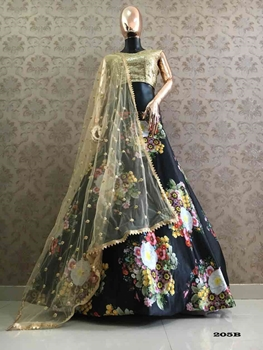 Picture of 205B Satin Lehenga Choli Collection