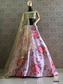 Picture of 205A Satin Lehenga Choli Collection
