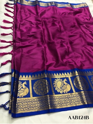 Picture of AAB124B Peacock Designer Saree