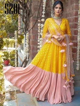 Picture of 5201 Georgette Gown With Dupatta