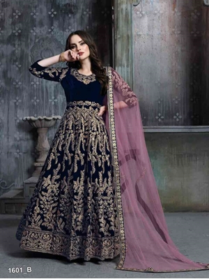 Picture of 1601B Designer Anarkali Suit Collection