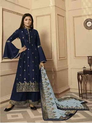 Picture of 4307C Designer Plazo Suit Collection