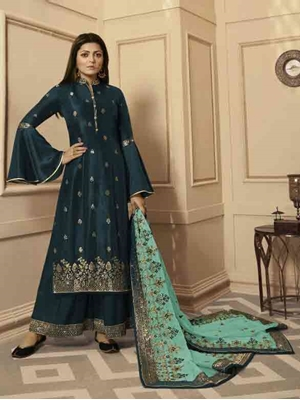 Picture of 4307A Designer Plazo Suit Collection