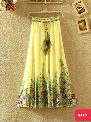Picture of S113 Digital Printed Skirt Collection