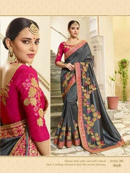 Picture of Designer Vichitra Silk Saree Collection