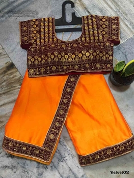 Picture of Velvet02 Designer Saree With Velvet Blouse