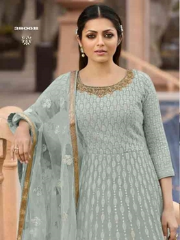 Picture of 3806B Georgette Anarkali Suit
