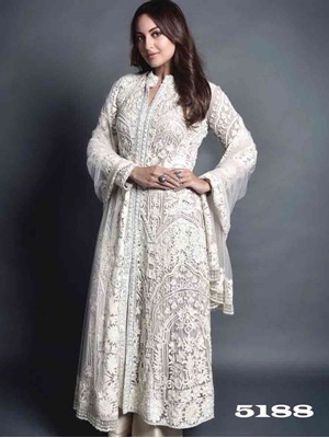 Picture of 5188 Embroidery Georgette Plazo Suit Collection