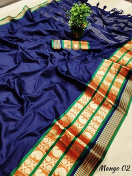 Picture of MangoBoss02 Cotton Silk Saree Collection