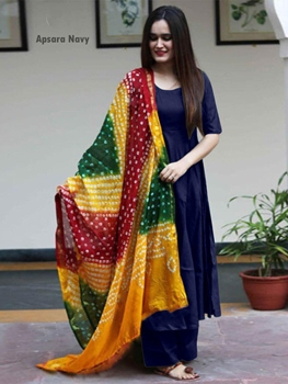 Picture of ApsaraNavy Kuri Plazo Suit Collection
