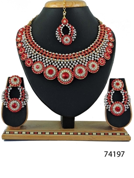 Picture of 74197 Imitation Jewellery Bridal Nacklace Set