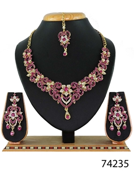 Picture of 74235 Imitation Jewellery Bridal Nacklace Set