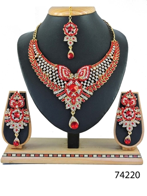 Picture of 74220 Imitation Jewellery Bridal Nacklace Set
