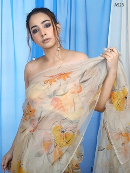 Picture of AS23 Digital Printed Organza Silk Saree