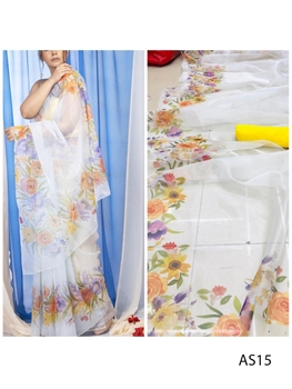 Picture of AS15 Digital Printed Organza Silk Saree