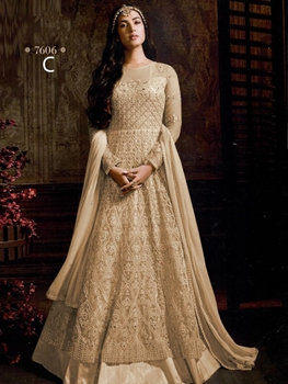 Picture of 7606C Designer Net Anarkali Suit