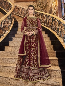 Picture of 6301F Heavy Embroidered Anarkali Suit