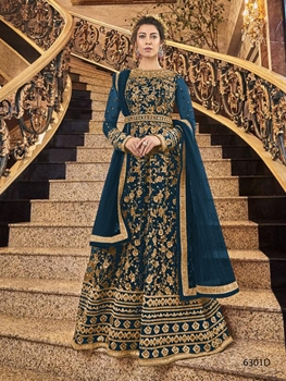 Picture of 6301D Heavy Embroidered Anarkali Suit
