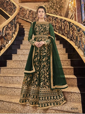 Picture of 6301B Heavy Embroidered Anarkali Suit