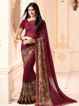 Picture of 18885 Georgette Printed Saree