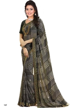 Picture of 16F Printed Georgette Saree