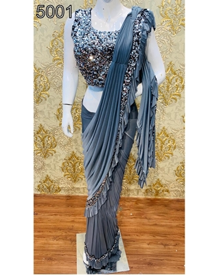 Picture of 5001 Ruffle Saree Collection