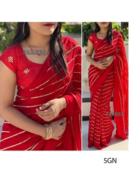Picture of 5G Embroidery Georgette Saree