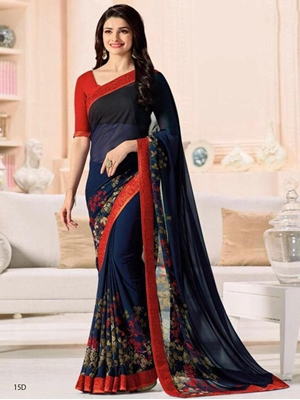 Picture of 15D Printed Georgette Saree